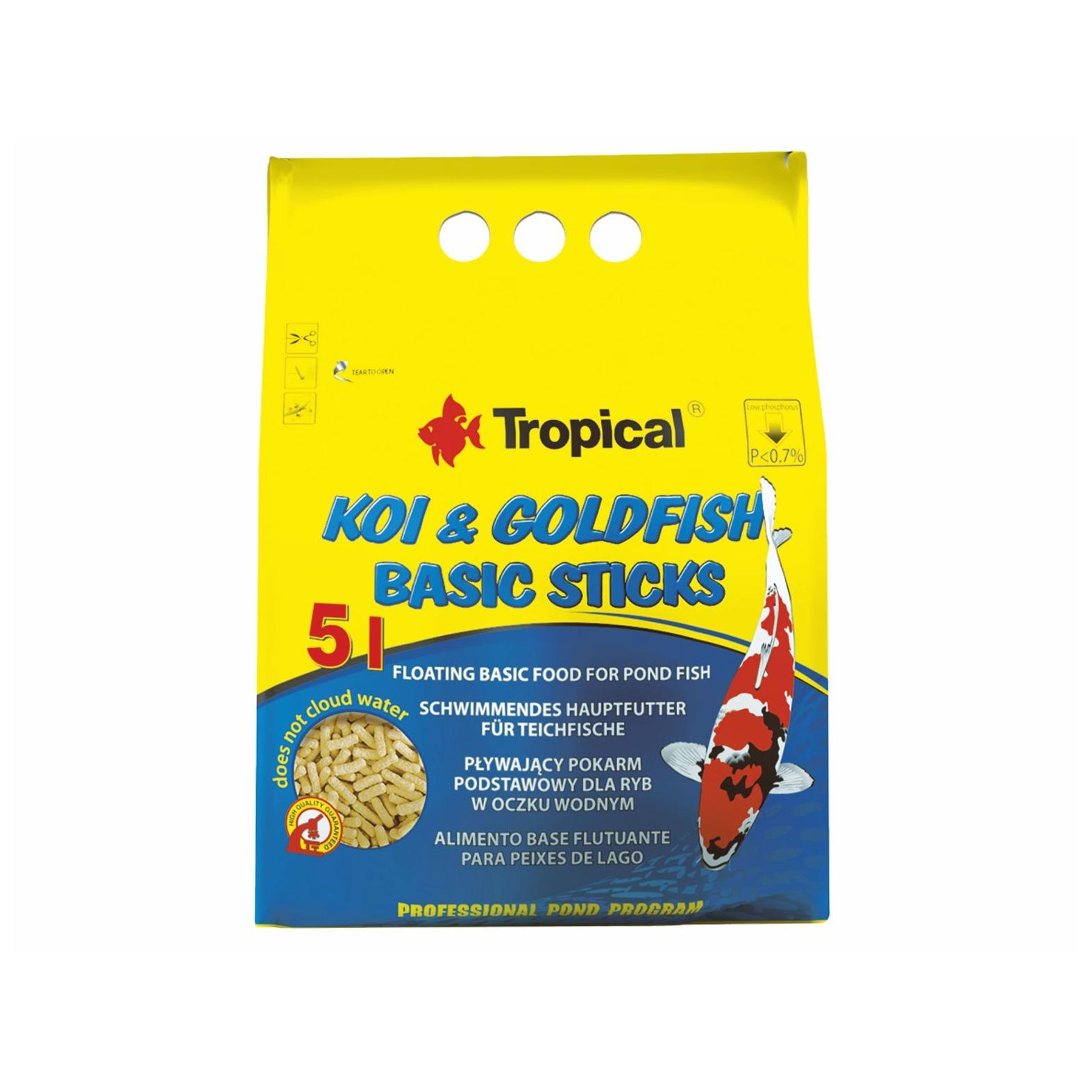 Tropical pond koi goldfish basic sticks 5l for Koi pond basics