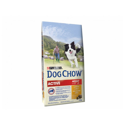 DOG CHOW Active gr. chicken/rice 14kg